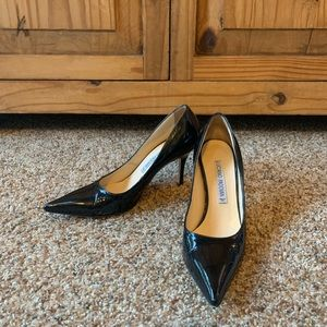 Luciano Padovan patent leather black pumps size 37